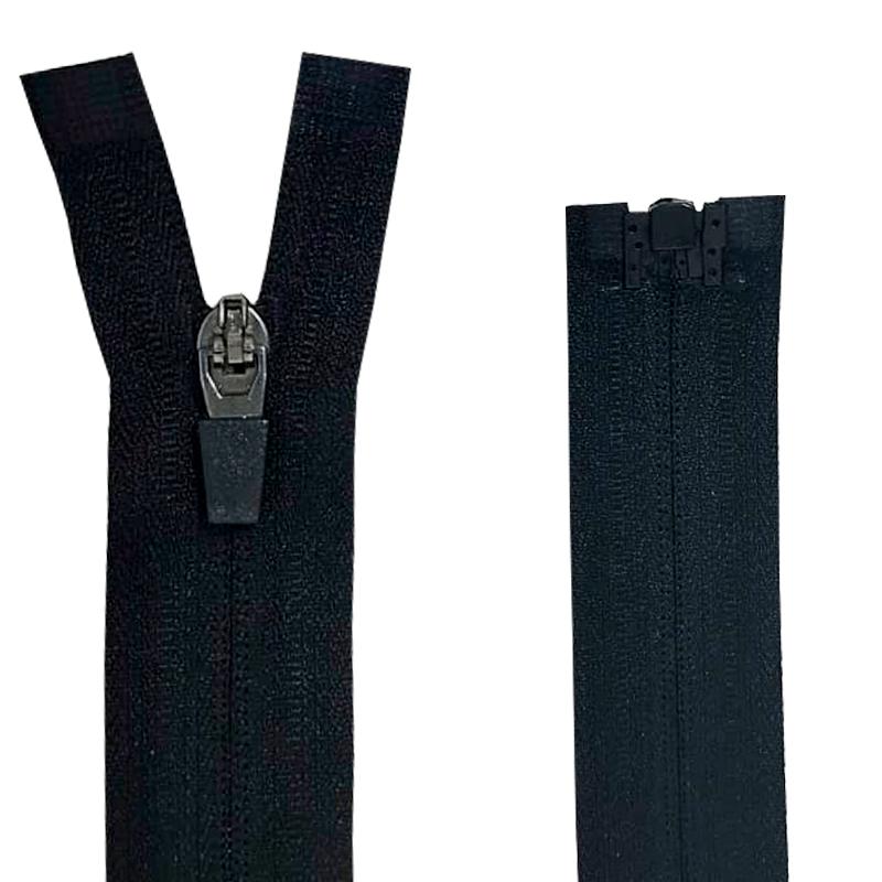 Zíper Nylon Fitness - Invisível - Destacável - Nº3 - Cursor emborrachado - 80cm