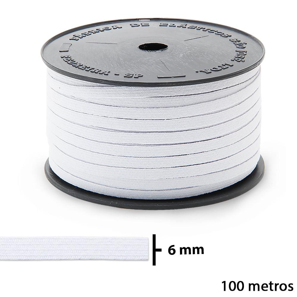 ELÁSTICO CHATO PIGEON - 6mm - SÃO JOSÉ - C/ 100M