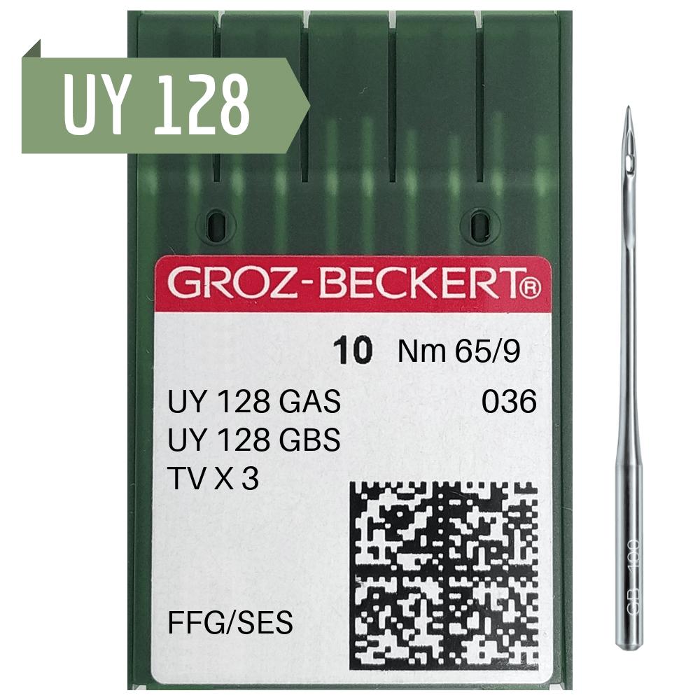 Agulha de Máquina Groz Beckert para Costura UY 128 - PESPONTADEIRA - GALONEIRA - Envelope c/10 und