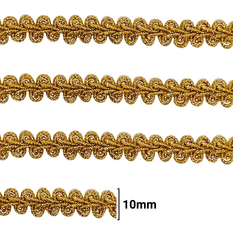 Fita Galão Ouro - 10mm - C/20M - Ref: 28-10