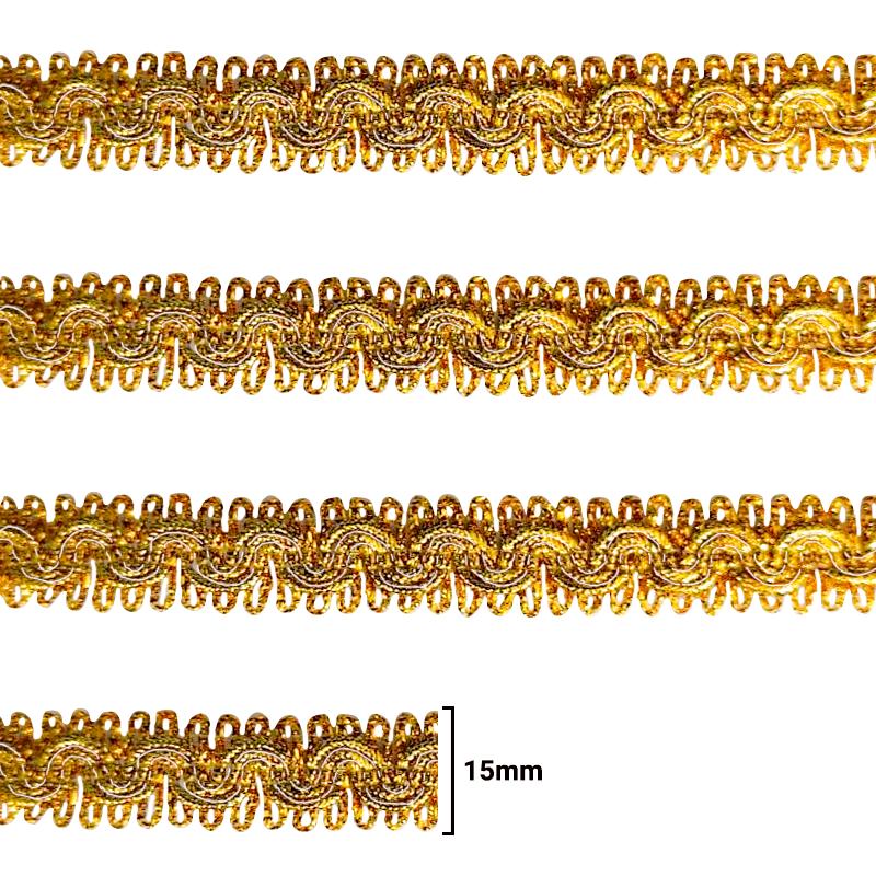 Fita Galão Ouro - 15mm - C/20M - Ref: 78-12