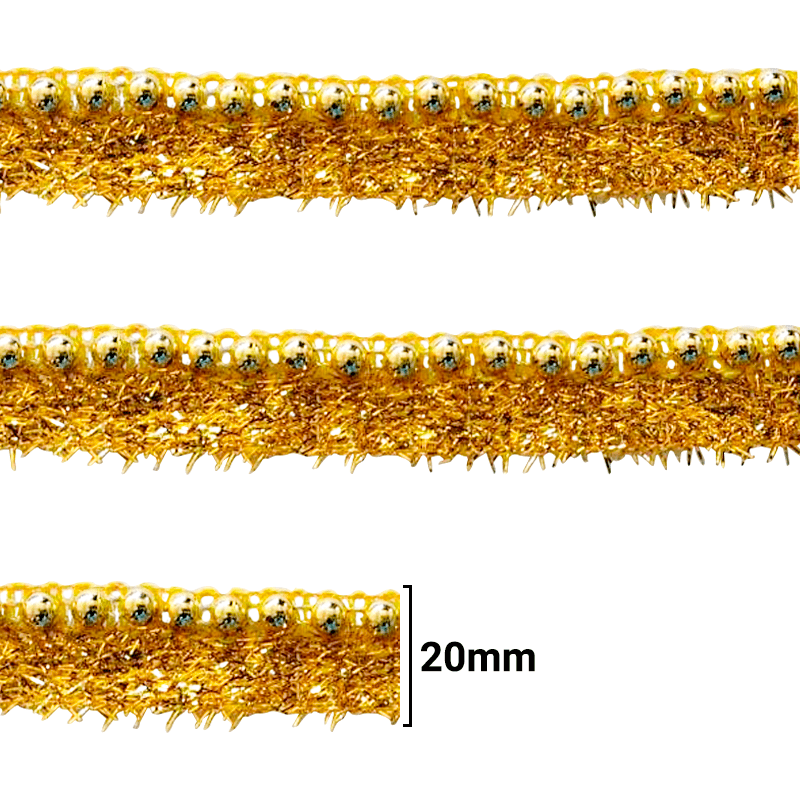 Fita Galão Ouro - 20mm - C/20M - Ref: 101-15