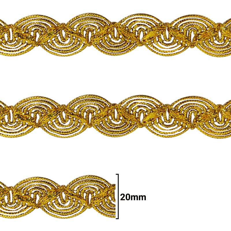 Fita Galão Ouro - 20mm - C/20M - Ref: 39-20
