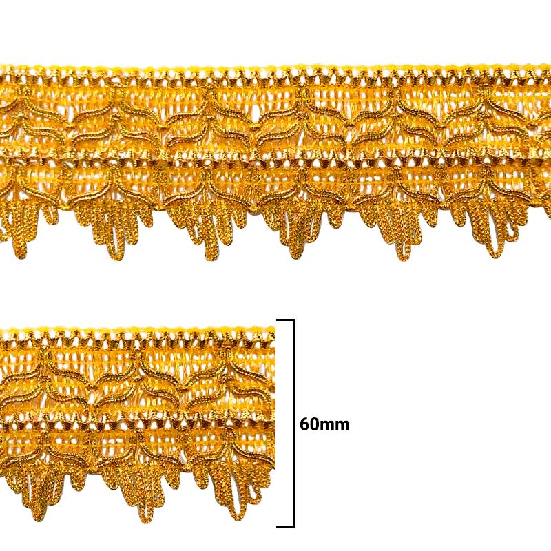 Fita Galão Ouro - 60mm - C/20M - Ref: 69-60
