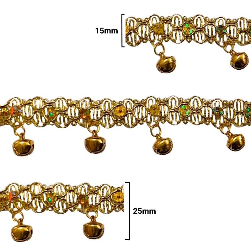 Fita Galão Ouro - 25mm - C/20M - Ref: 73-35