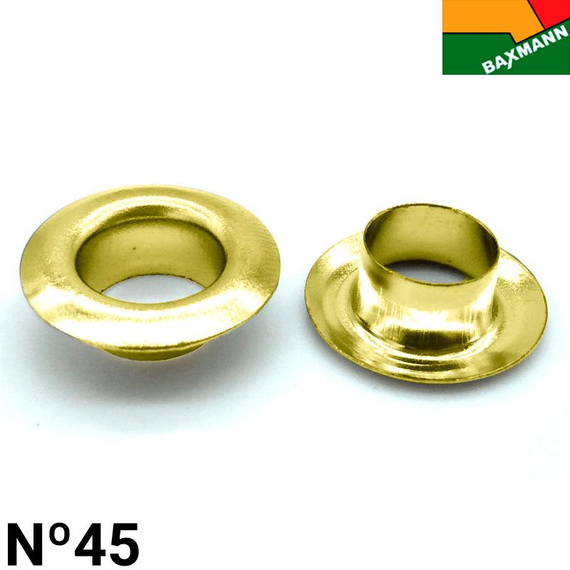 Ilhós de Ferro - Baxmann - Nº45 - C/1000und