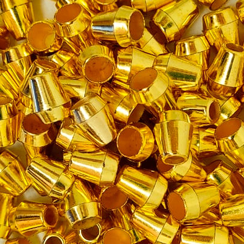 Ponteira Afunilada - Dourado - 12mm - C/100und - Cód MSO-017