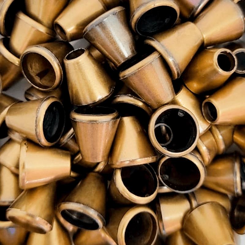 Ponteira Ouro Velho Afunilada - Sino - 13mm - c/100und - Cód XR-005