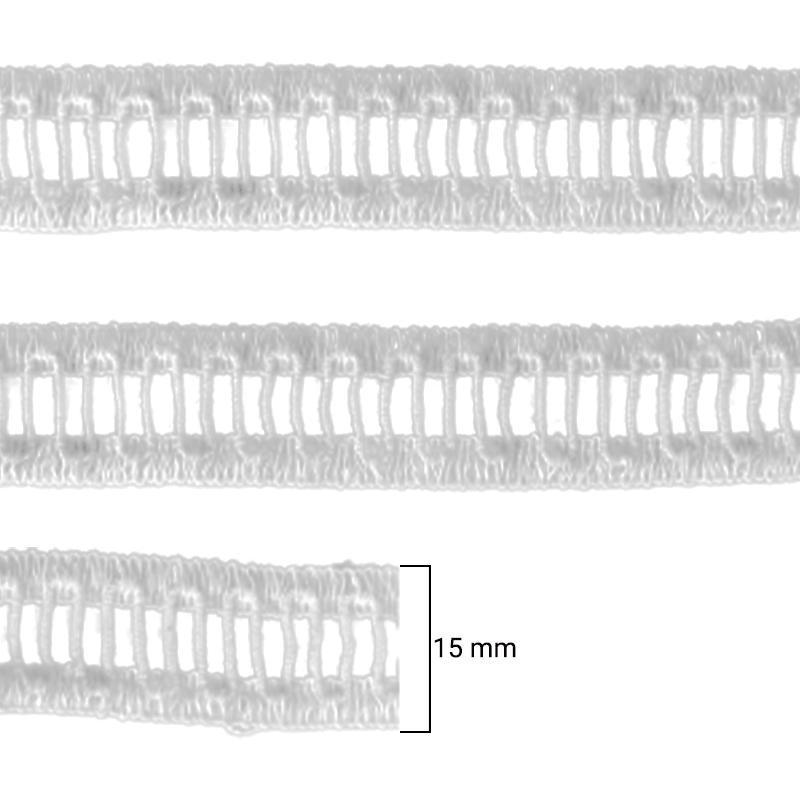 Ponto Palito - Hak - 1506MINI - Branco - 15mm - C/50M