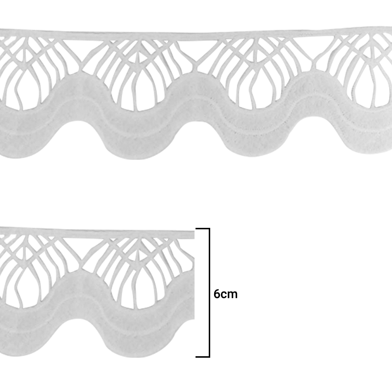 Renda Guipír - Cru - 6cm - C/15j - Ref REN-203004