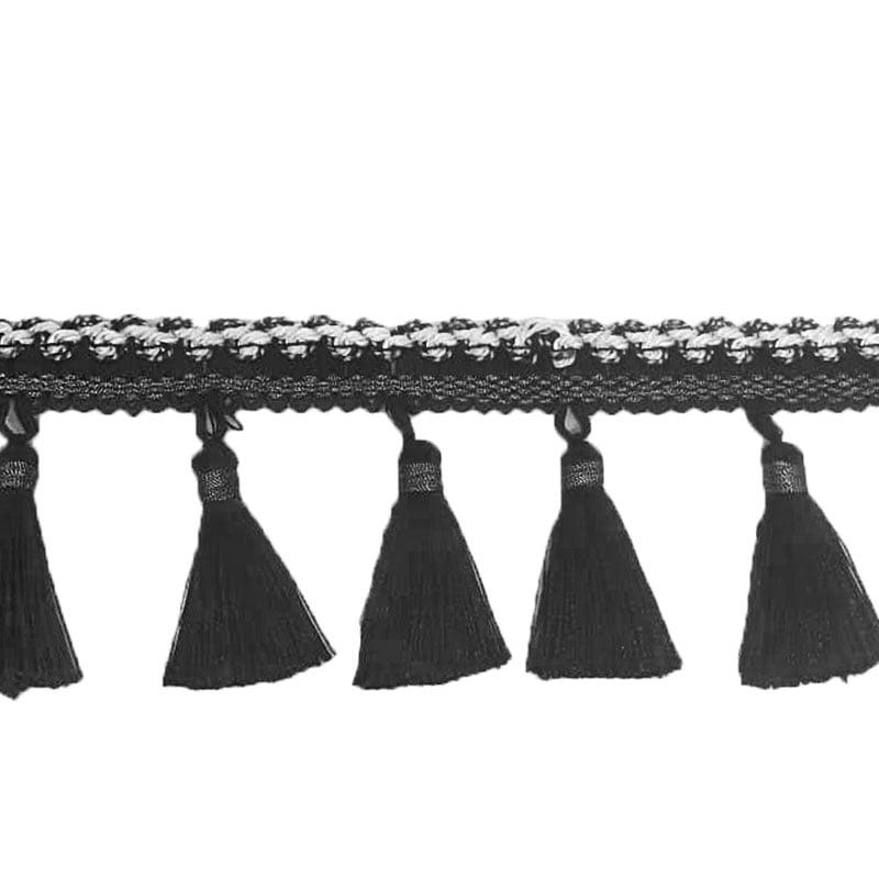 Tira barbicacho - Preto - 8,5cm - Vendido no metro