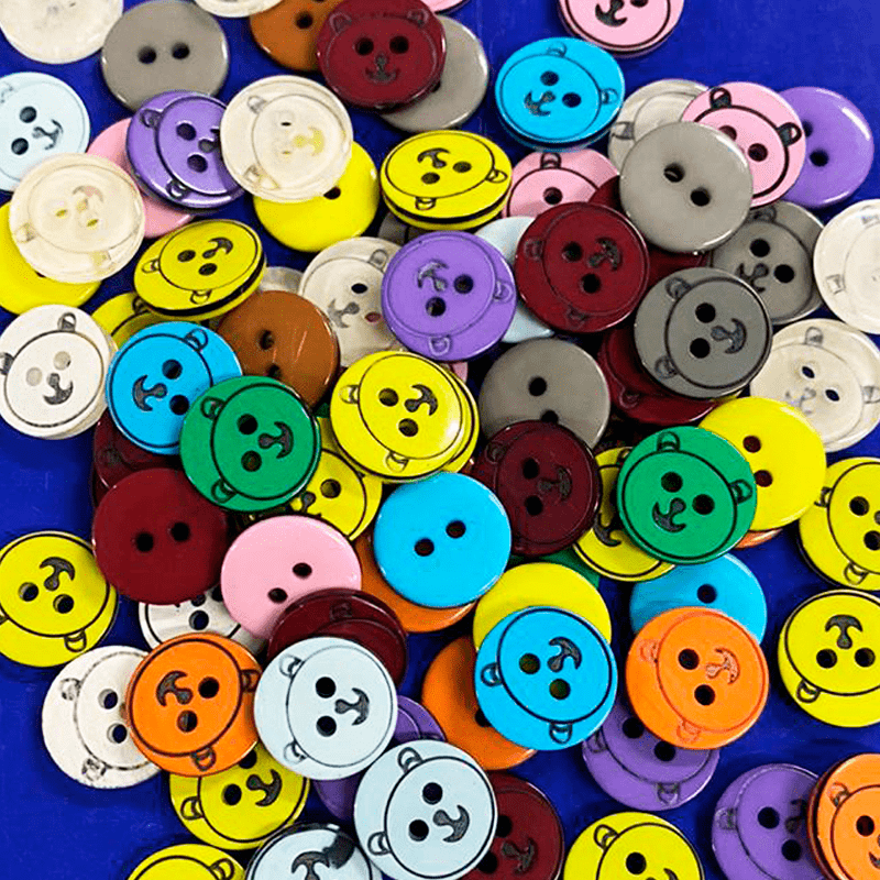 Botão Infantil Ursinho Sortido - 12,7 mm - C/100 und