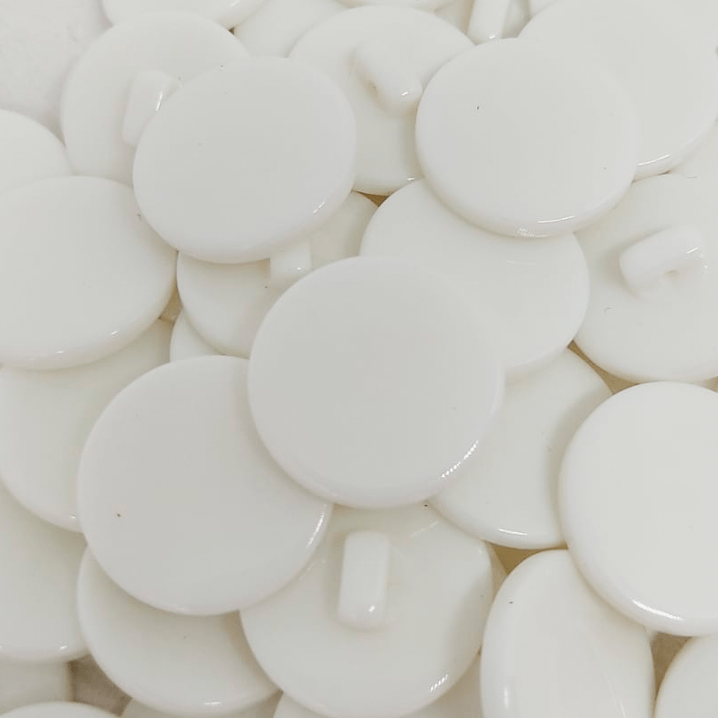 """Botão Poliéster Pezinho - Branco - Modinha - Tam 40""""/25,40mm - C/50und"""