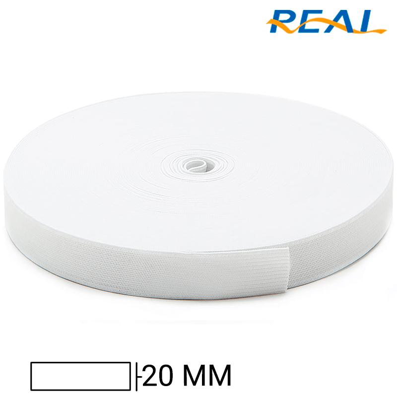 Elástico Chato Short Light - Branco - Real - 20mm - C/25m