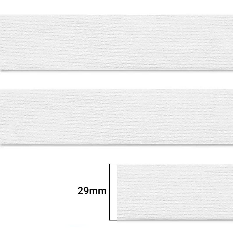 Elástico Chato Enfestado Jaraguá 30 - Branco - Zanotti - 29mm - CX C/1.200M