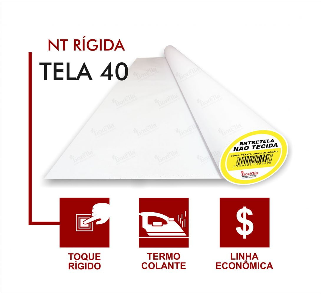 Entretela Termo Colante Fiorella TC 40 - Com 50 metros