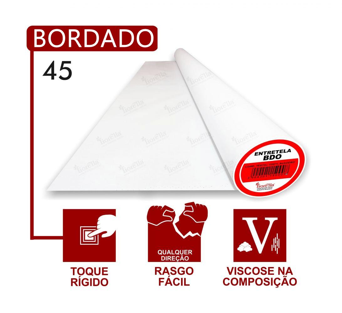 Entretela de Bordar Fiorella BDO 45 - Com 200 metros - Grossa