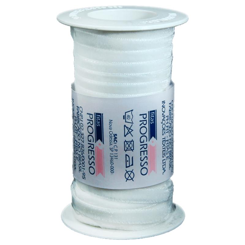 Fita de veludo Progresso - VN 001- 6mm - C/10m