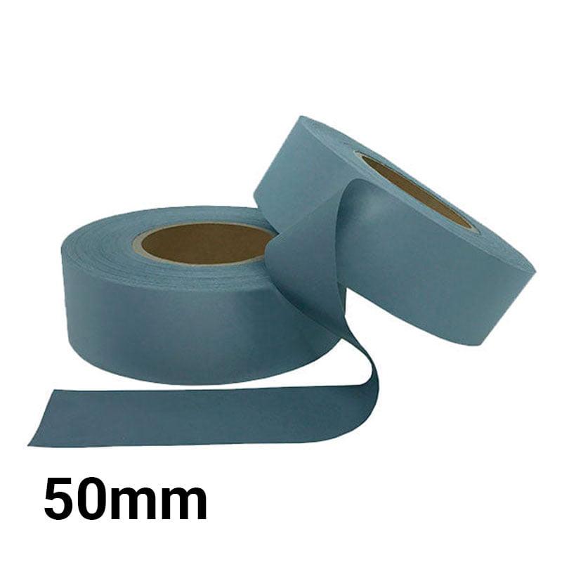 Tecido Refletivo Cinza - Fita Refletiva - Faixa refletiva Cinza - 50mm - C/100m