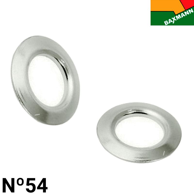 Arruela de Alumínio - Baxmann -  Nº54 - Niquelado Prata - C/1000und