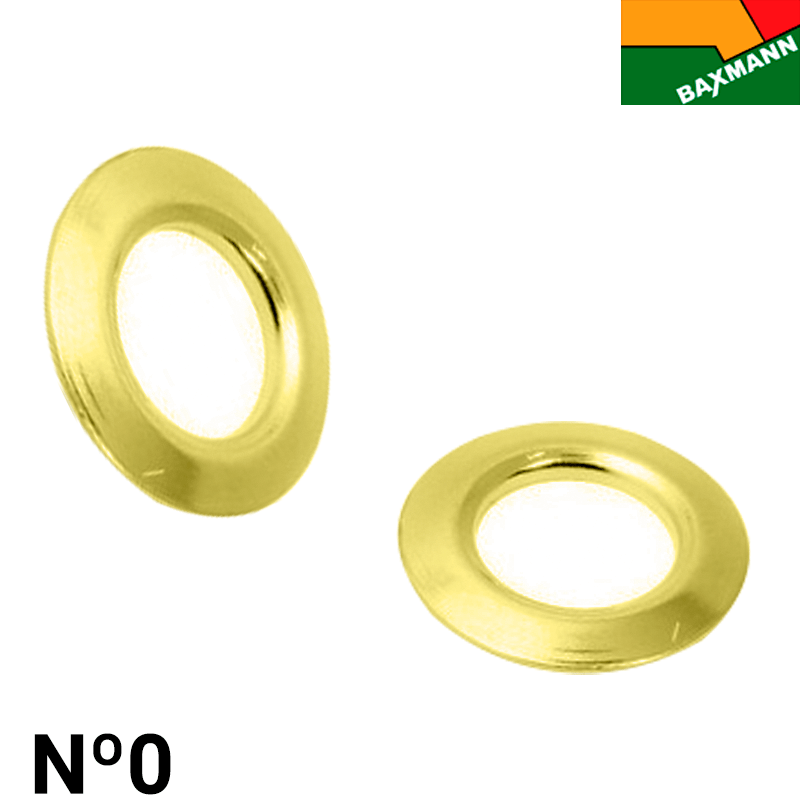 Arruela de Latão - Baxmann - Nº0 - C/1000und