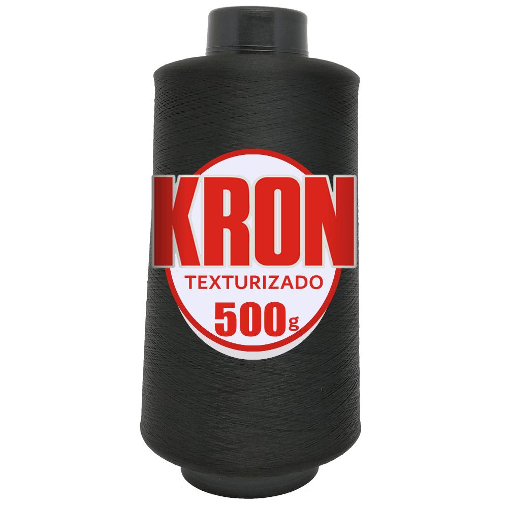 Fio para Overlock Preto - Kron - 100% Poliéster Texturizado - Cone com 500G