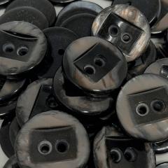 """Botão Poliéster - Meio Retangular - 2 furos - Modinha - Tam  48""""/30,48mm -  C/50und"""