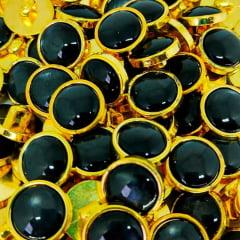 """Botão Abs Pezinho - Dourado com Preto - Modinha - Tam 24""""/15,24mm - C/ 144und"""