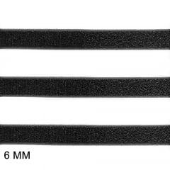 Elástico Clivia 6 - Preto - Zanotti - 6mm - C/50M
