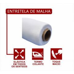 Entretela de Malha Termo Colante - Preta - C/1,5M de largura - Vendido no Metro