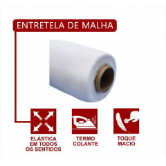 Entretela de Malha Termo Colante - Preta - C/1,5 x 100M