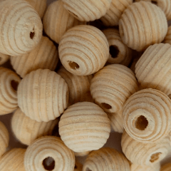 Miçanga de Madeira - Cru - 10mm - C/100und - Ref RO.150754