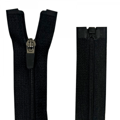 Zíper Nylon Fitness - Destacável - Nº3 - Preto - Cursor emborrachado - 60cm