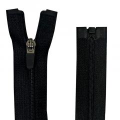 Zíper Nylon Fitness - Destacável - Nº3 - Preto - Cursor emborrachado - 70cm
