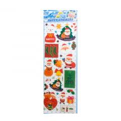 Cartela Adesiva - Natal - Sortido - Tamanho 30x11