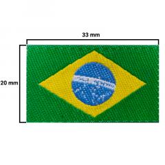Etiqueta Termocolante Bandeira do Brasil - 20x33mm - C/100und