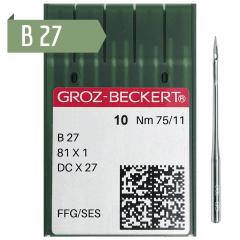 Agulha de Máquina Groz Beckert para Costura B27 - OVERLOCK - Envelope c/10 und