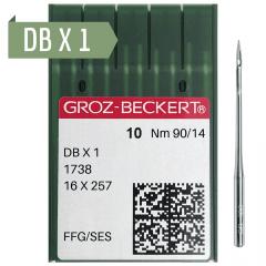 Agulha de Máquina Groz Beckert para Costura DBX1 - RETA CABO FINO - Envelope c/10 und