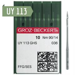 Agulha de Máquina Groz Beckert para Costura UY 113 GHS - Elástiqueira - Envelope c/10 und