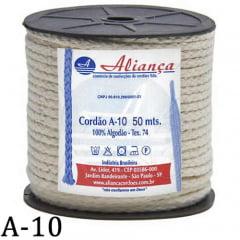 Cordão de Algodão Aliança A10 - 5mm - C/50 Metros