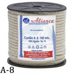 Cordão de Algodão Aliança A8 - 4mm - C/ 100 Metros
