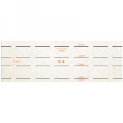 CARCELA 50G - 8,5X25 - 6 Botões -  C/50UND