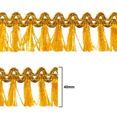Fita Galão Ouro - 40mm - C/20m - Ref: 41-40