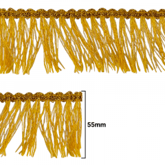 Fita Galão Ouro - 55mm - C/20m - Ref: 45-55