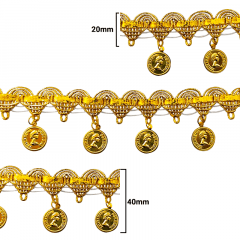 Fita Galão Ouro - 40mm - C/20m - Ref: 55-35