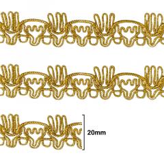 Fita Galão Ouro - 20mm - C/20M - Ref: 24-20