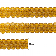 Fita Galão Ouro - 30mm - C/20M - Ref: 80-30