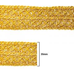 Fita Galão Ouro - 35mm - C/20M - Ref: 71-35