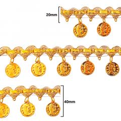 Fita Galão Ouro - 40mm - C/20M - Ref: 72-35