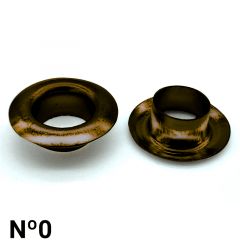 Ilhós de Ferro - Baxmann - Nº0 - C/1000und